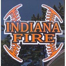 INDIANA FIRE DECAL 7""